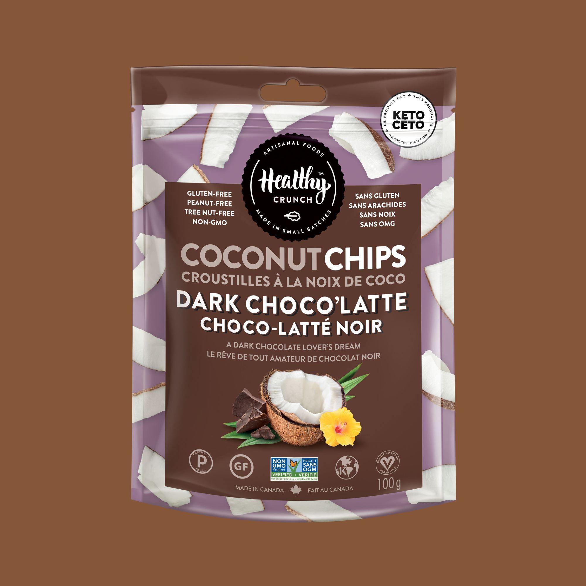 Dark Choco'Latte Coconut Chips