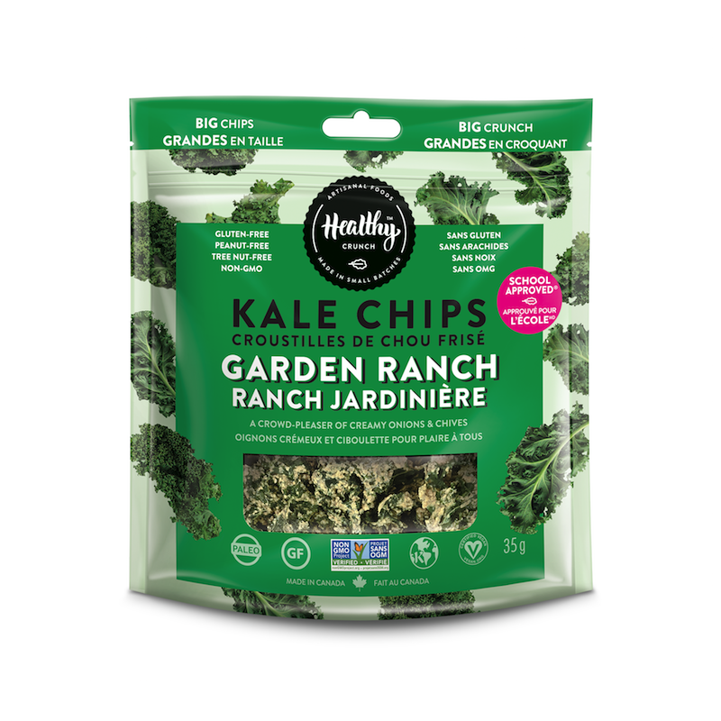 Garden Ranch Kale Chips - The Healthy Crunch Company - Certified Paleo - Paleo Foundation