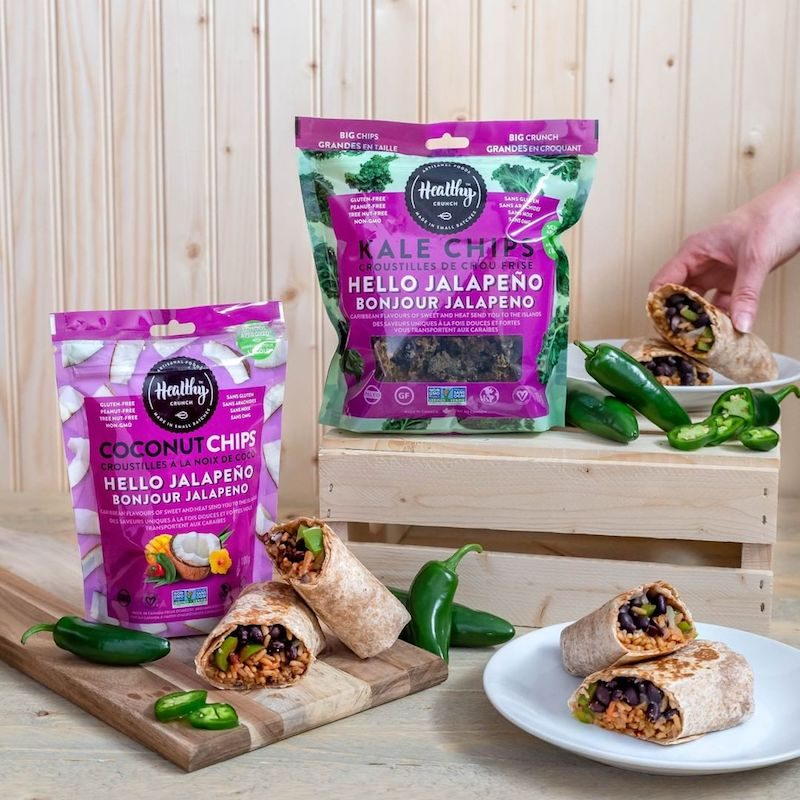 Hello Jalapeño Coconut Chips & Kale Chips - The Healthy Crunch Company - Certified Paleo - Paleo Foundation