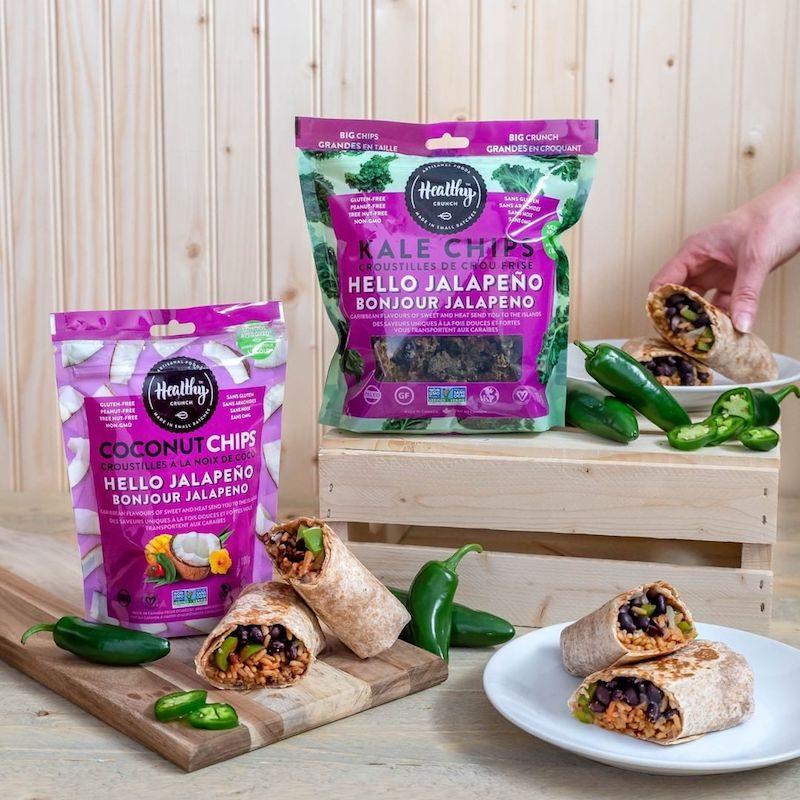 Hello Jalapeño Coconut Chips & Kale Chips - The Healthy Crunch Company - Certified Paleo - Paleo Foundation