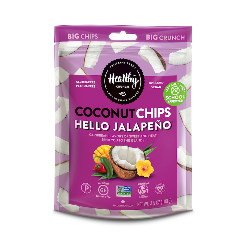 Hello Jalapeño Coconut Chips - The Healthy Crunch Company - Certified Paleo - Paleo Foundation