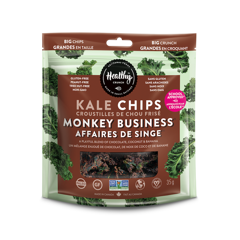 Monkey Business Kale Chips - The Healthy Crunch Company - Certified Paleo - Paleo Foundation