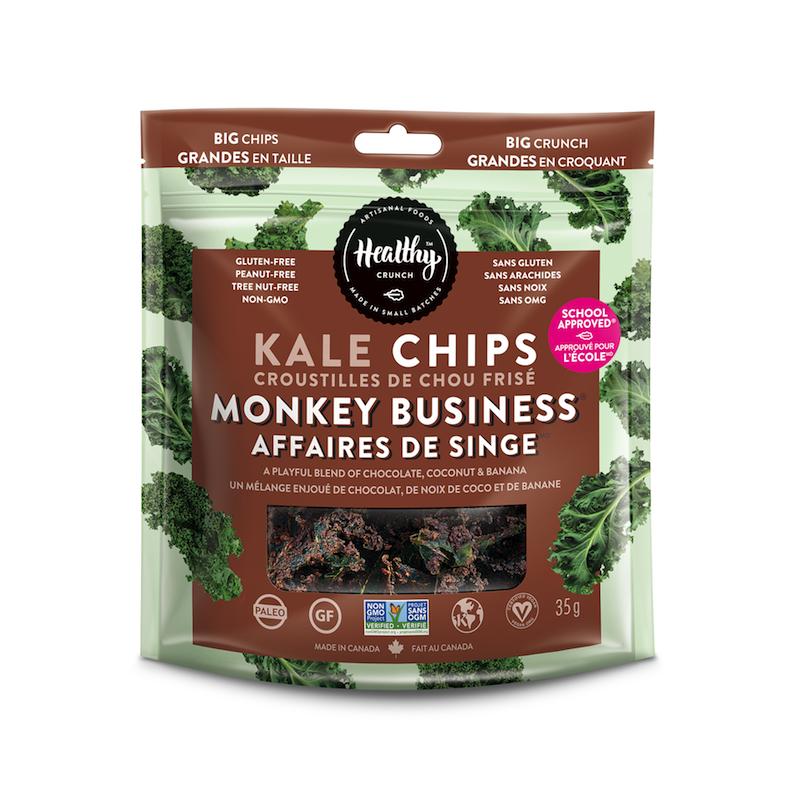 Monkey Business Kale Chips - The Healthy Crunch Company - Certified Paleo - Paleo Foundation