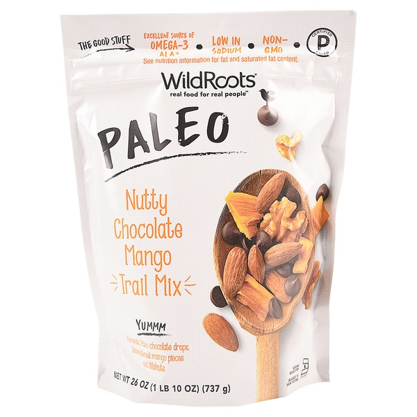 Nutty Chocolate Mango Paleo Trail Mix - WildRoots - Certified Paleo - Paleo Foundation