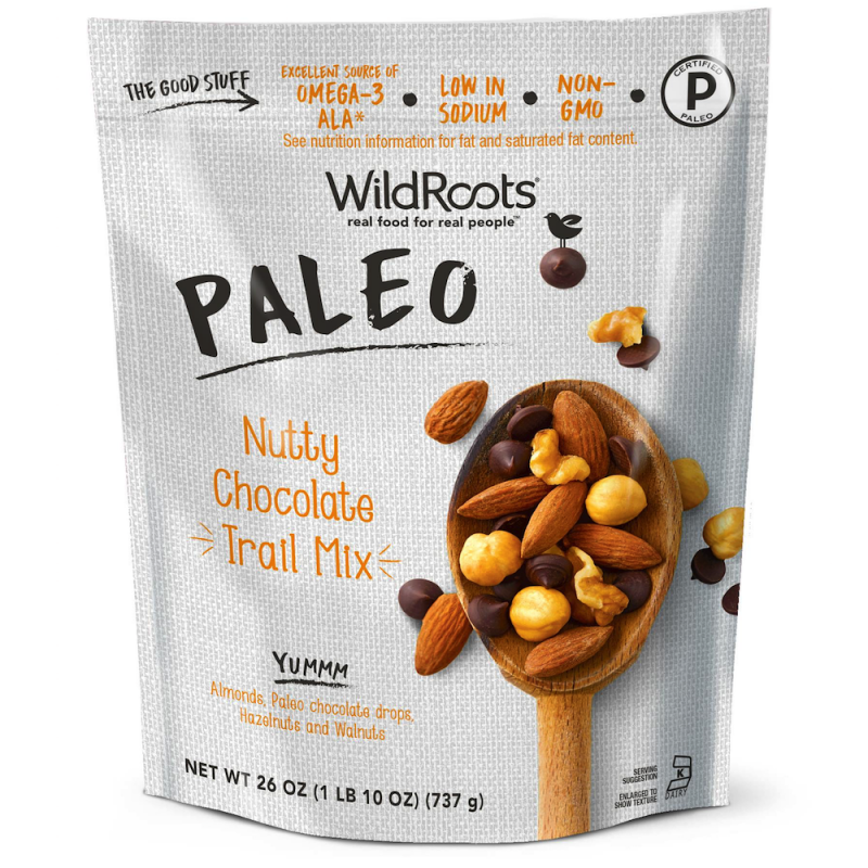 Nutty Chocolate Paleo Trail Mix - WildRoots - Certified Paleo - Paleo Foundation