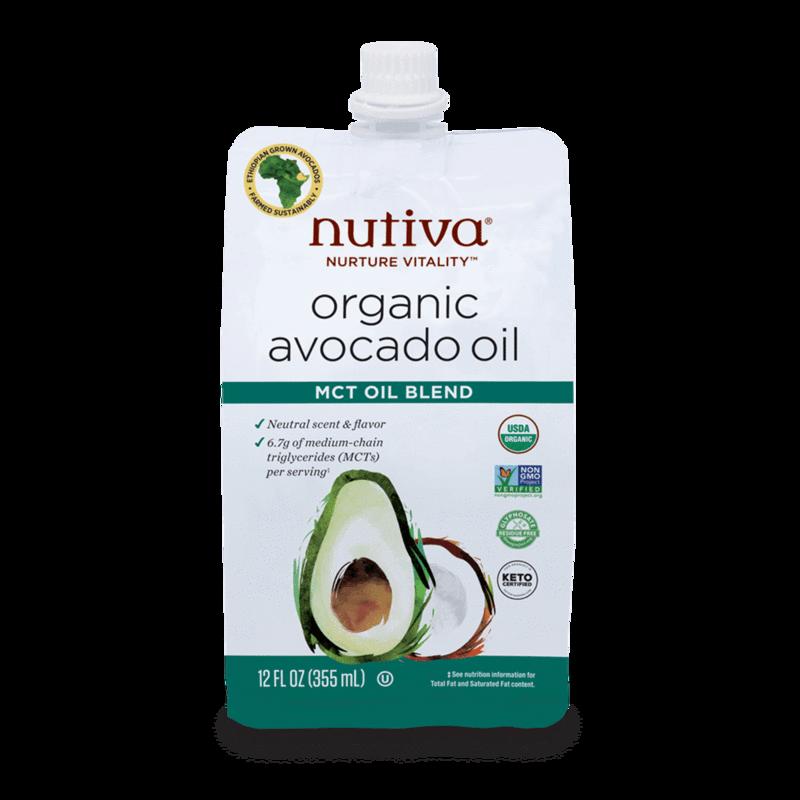Organic Avocado Oil MCT Oil Blend - Nutiva - Certified Paleo, Keto Certified by the Paleo Foundation