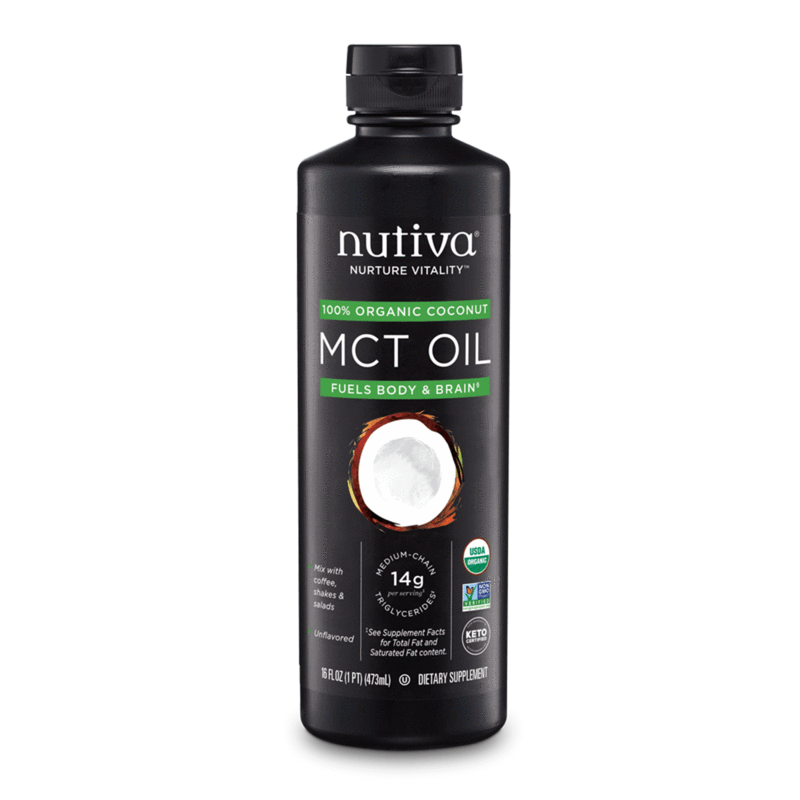 Organic Coconut MCT Oil - Nutiva - Certified Paleo, Keto Certified by the Paleo Foundation