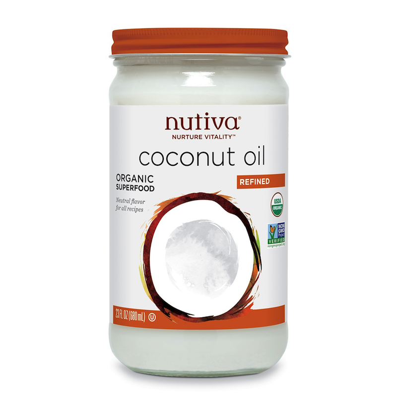 Organic Coconut Oil, Refined - Nutiva - Certified Paleo, KETO Certified - Paleo Foundation