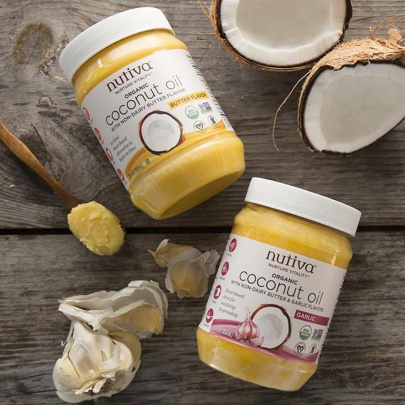 Organic Coconut Oil with non-Dairy Butter Flavor - Nutiva - Paleo Friendly, KETO Certified - Paleo Foundation