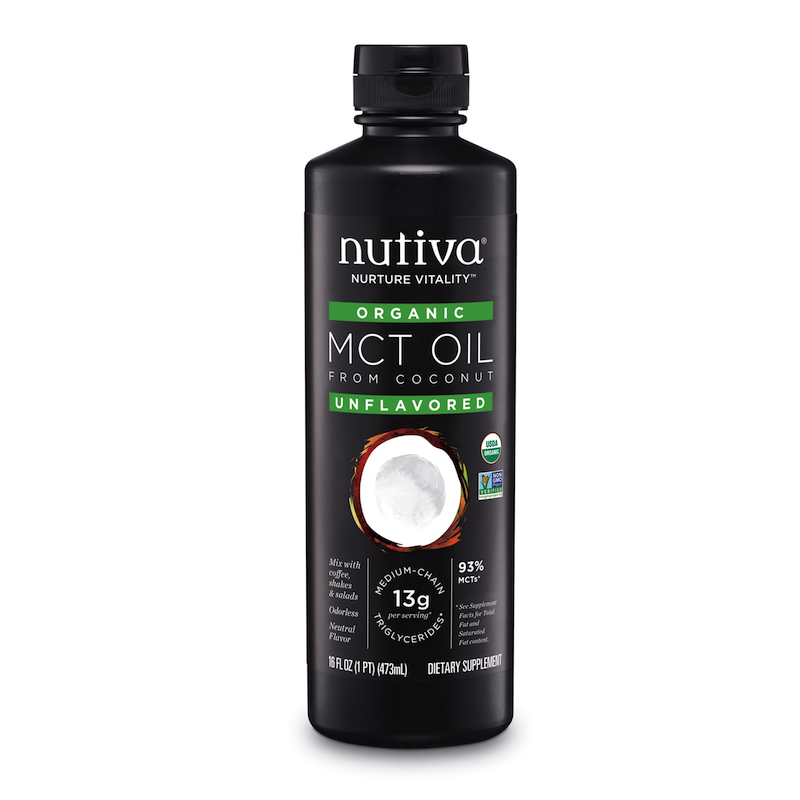 Organic MCT Oil - Nutiva - Certified Paleo, KETO Certified - Paleo Foundation