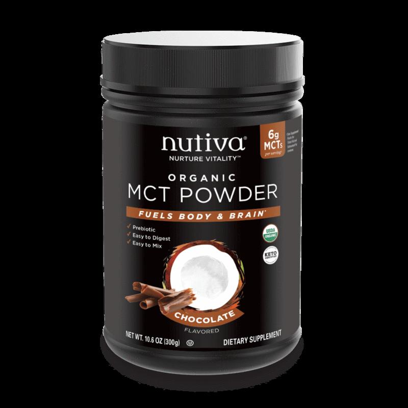 Organic MCT Powder Chocolate - Nutiva - Certified Paleo, Keto Certified by the Paleo Foundation