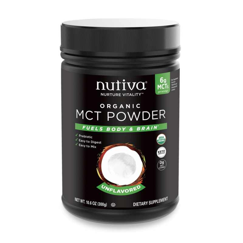 Organic MCT Powder Unflavored - Nutiva - Certified Paleo, Keto Certified by the Paleo Foundation