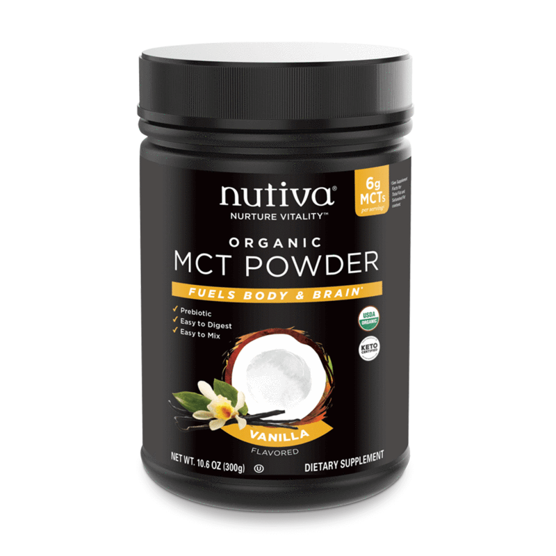 Organic MCT Powder Vanilla - Nutiva - Certified Paleo, Keto Certified by the Paleo Foundation