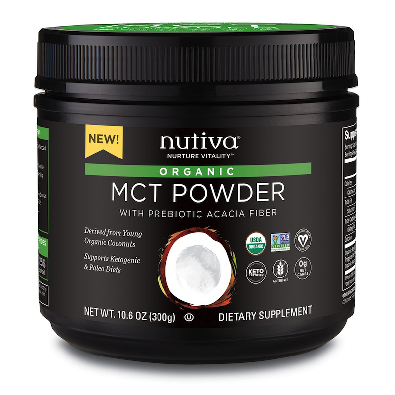 Organic MCT Powder with prebiotic acacia fiber - Nutiva - Certified Paleo, KETO Certified - Paleo Foundation