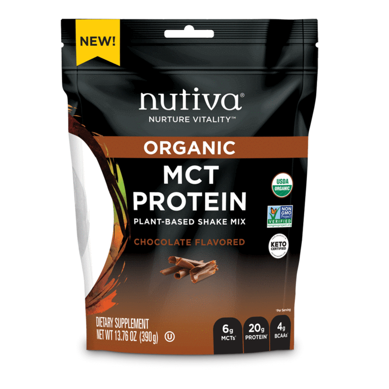 Organic MCT Protein Chocolate - Nutiva - Certified Paleo, Keto Certified by the Paleo Foundation