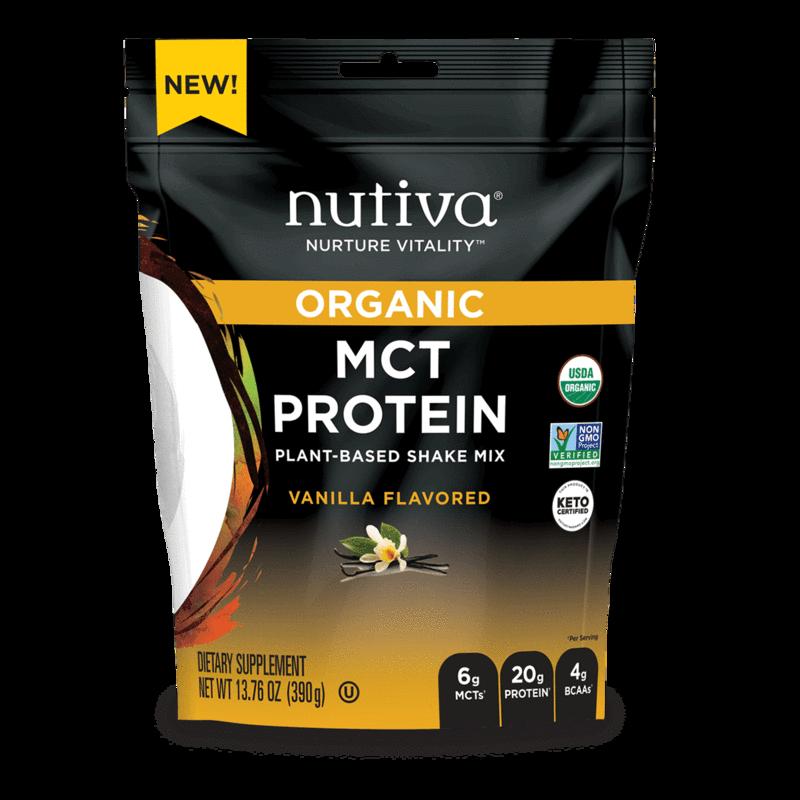 Organic MCT Protein Vanilla - Nutiva - Certified Paleo, Keto Certified by the Paleo Foundation