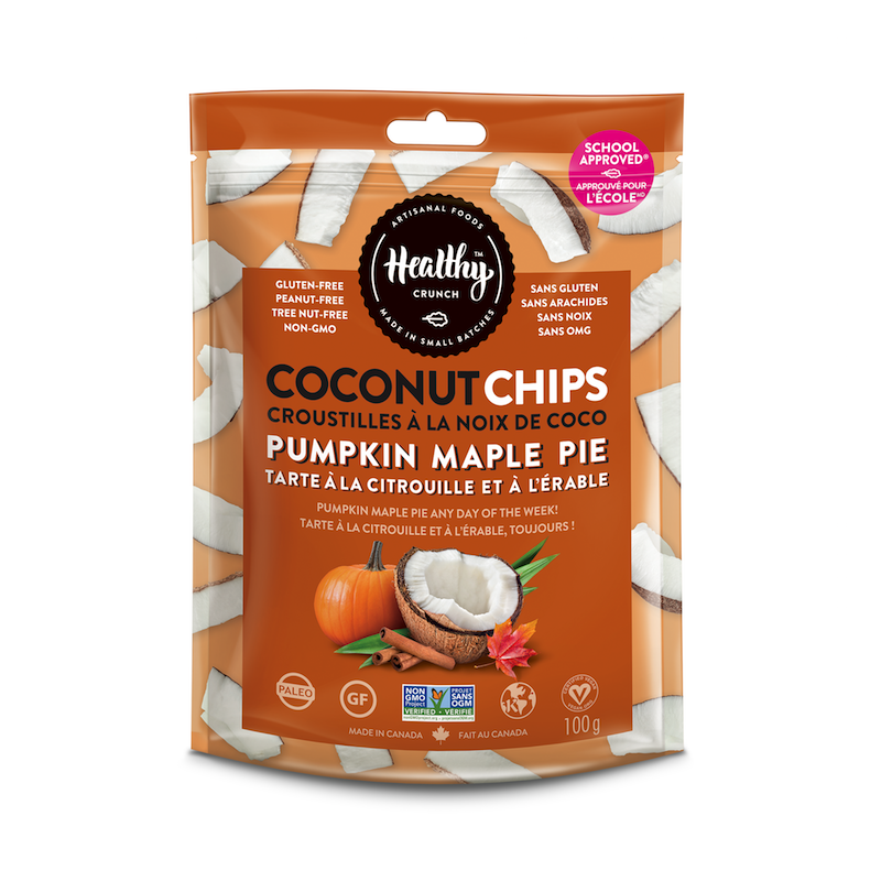 Pumpkin Maple Pie Coconut Chips - The Healthy Crunch Company - Certified Paleo - Paleo Foundation