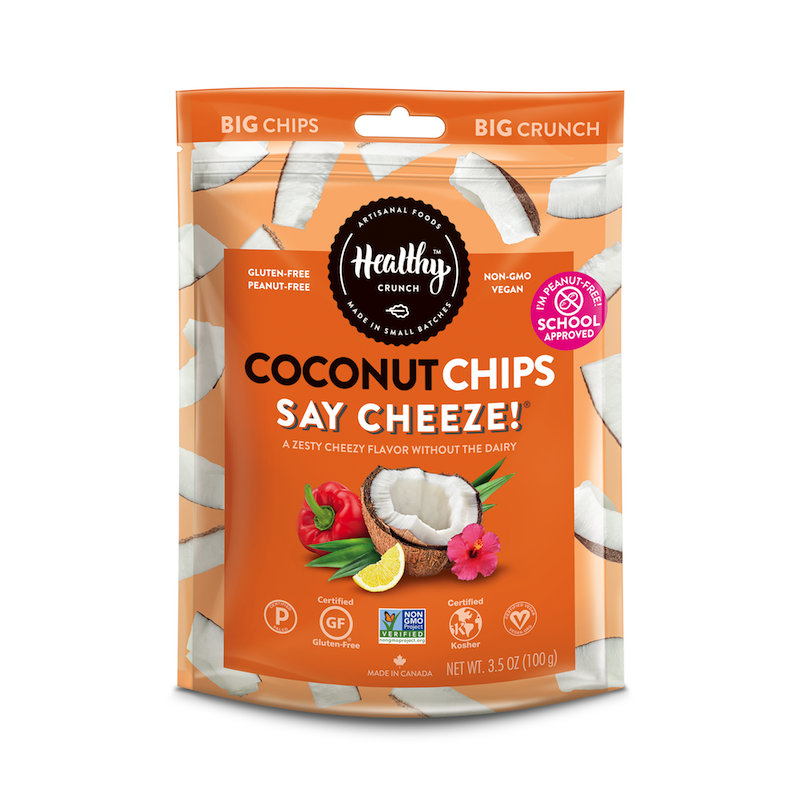 Say Cheeze! Coconut Chips - The Healthy Crunch Company - Certified Paleo - Paleo Foundation