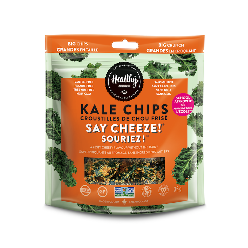Say Cheeze! Kale Chips - The Healthy Crunch Company - Certified Paleo - Paleo Foundation