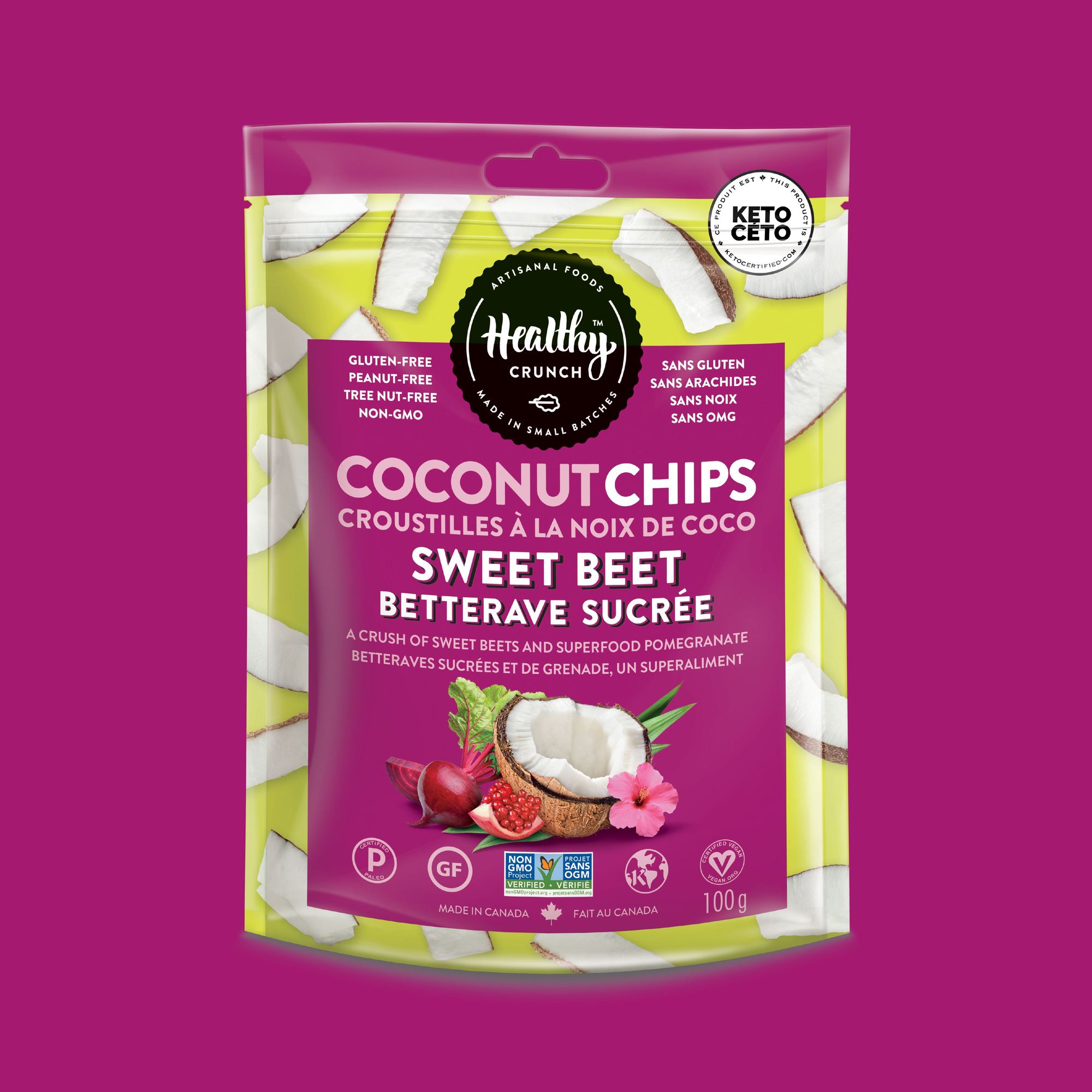 Sweet Beet Coconut Chips