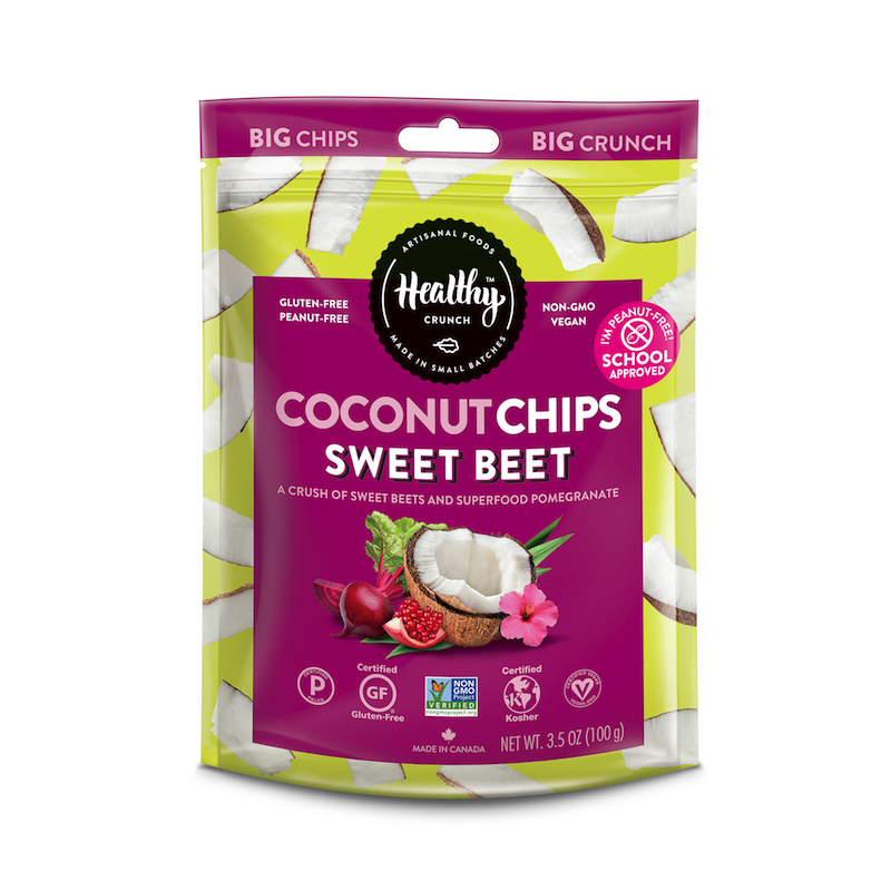 Sweet Beet Coconut Chips - The Healthy Crunch Company - Certified Paleo - Paleo Foundation