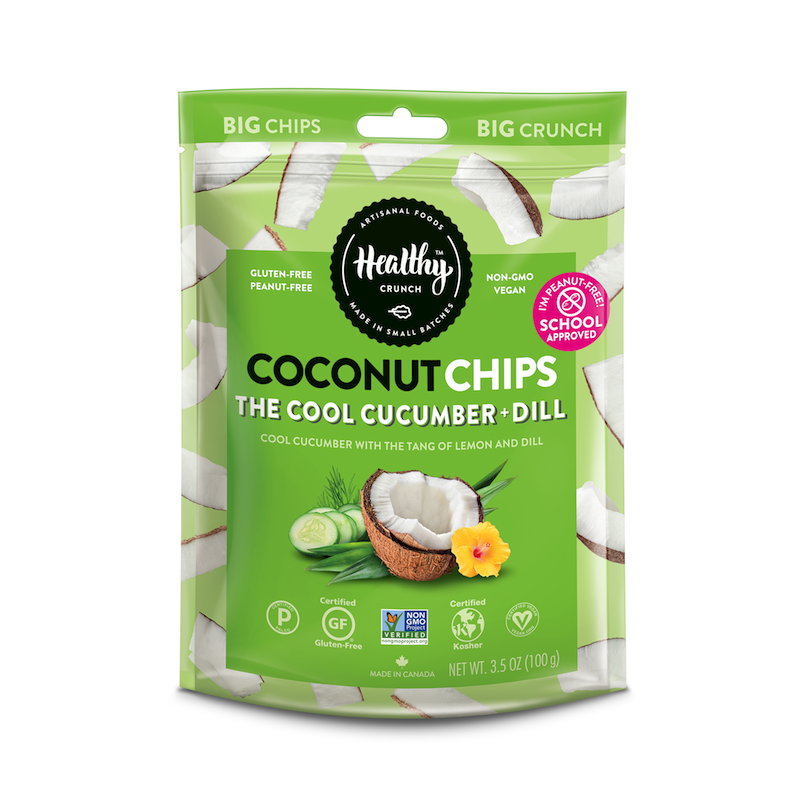 The Cool Cucumber & Dill Coconut Chips - The Healthy Crunch Company - Certified Paleo - Paleo Foundation