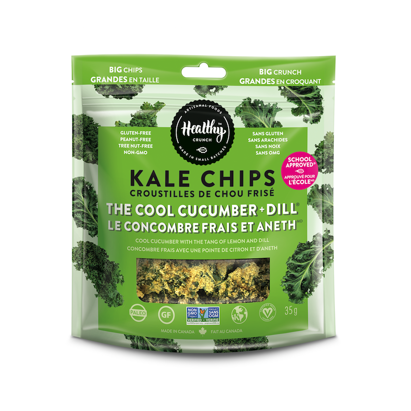 The Cool Cucumber & Dill Kale Chips - The Healthy Crunch Company - Certified Paleo - Paleo Foundation