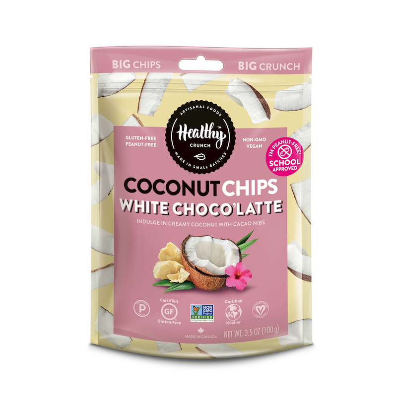 White Chocolate Latte Coconut Chips - The Healthy Crunch Company - Certified Paleo - Paleo Foundation
