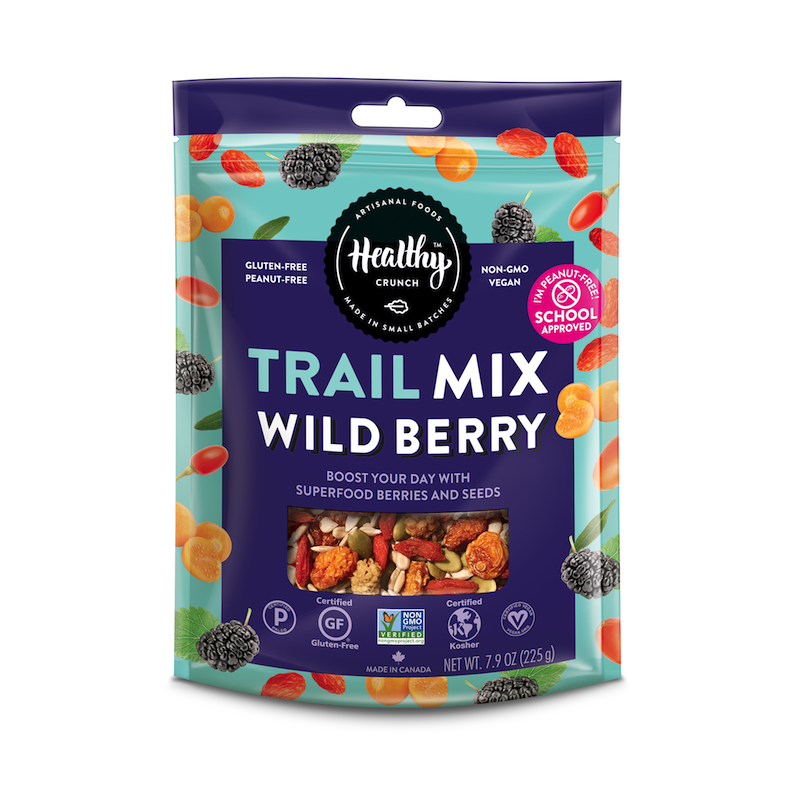 Wild Berry Trail Mix - The Healthy Crunch Company - Certified Paleo - Paleo Foundation