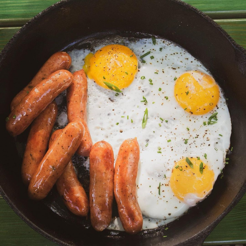 Breakfast Sauage And Eggs - Tender Belly - Certified Paleo Keto Certified by the Paleo Foundation