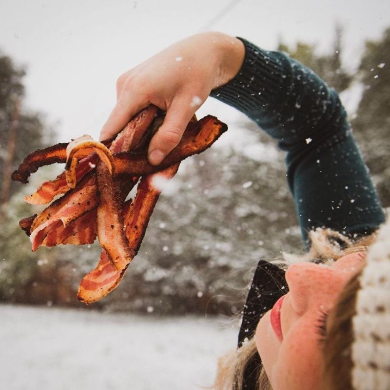 No Sugar Dry-Rub Uncured Bacon in the snow - Tender Belly - Certified Paleo, KETO Certified - Paleo Foundation