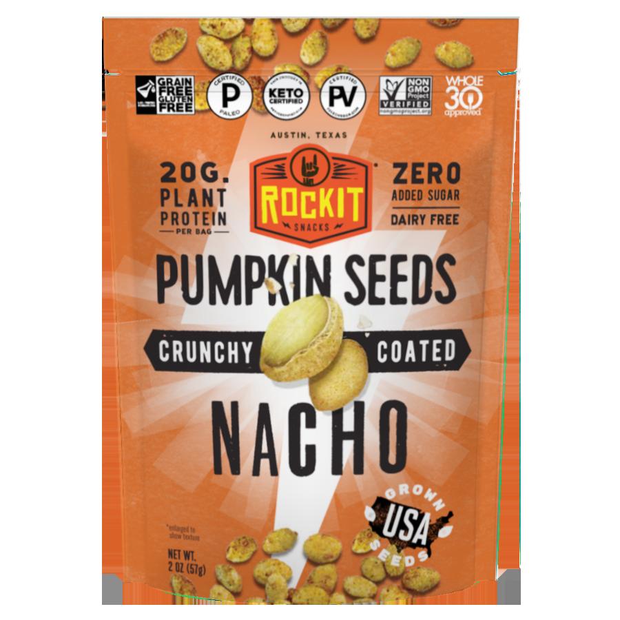Nacho Roasted Pumpkin Seeds - Certified Paleo, Keto Certified, Grain Free, PaleoVegan by the Paleo Foundation