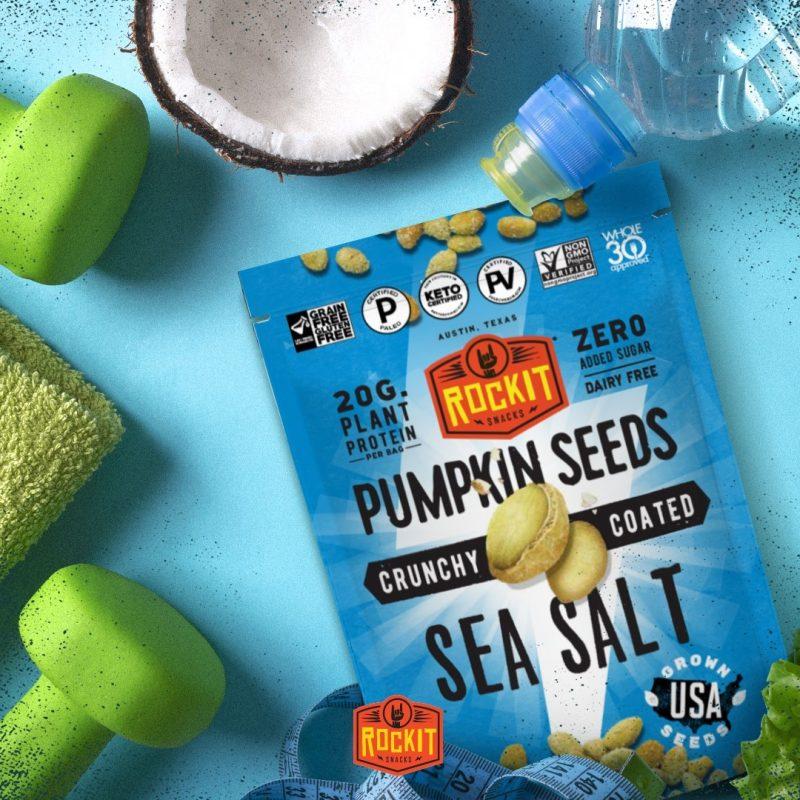 Pumpkin Seeds Sea Salt - RockIt Snacks - Certified Paleo, Keto Certified, Grain Free, PaleoVegan by the Paleo Foundation