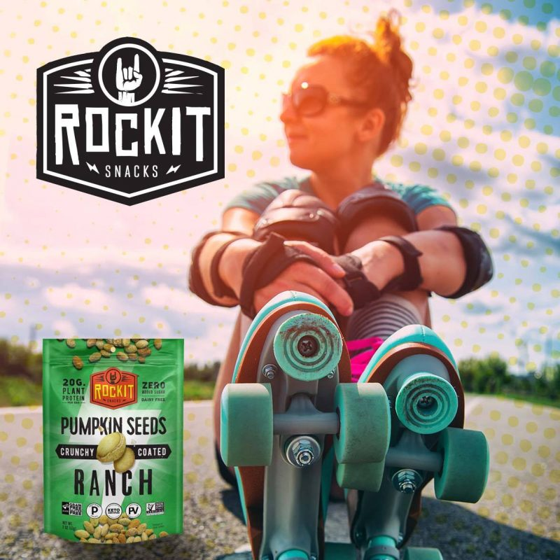 Ranch Pumpkin Seeds 01 - RockIt Snacks - Certified Paleo, Certified Grain Free, Keto Certified, PaleoVegan by the Paleo Foundation