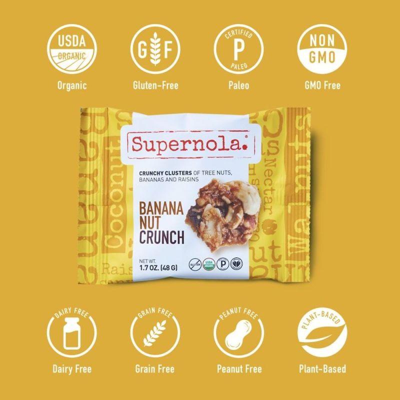 Banana Nut Crunch 1 - Supernola - Evolve Snacking - Certified Paleo by the Paleo Foundation