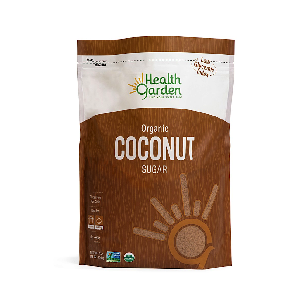 Coconut Sugar - Health Garden of USA - Certified Paleo, PaleoVegan, Grain Free Gluten Free by the Paleo Foundation