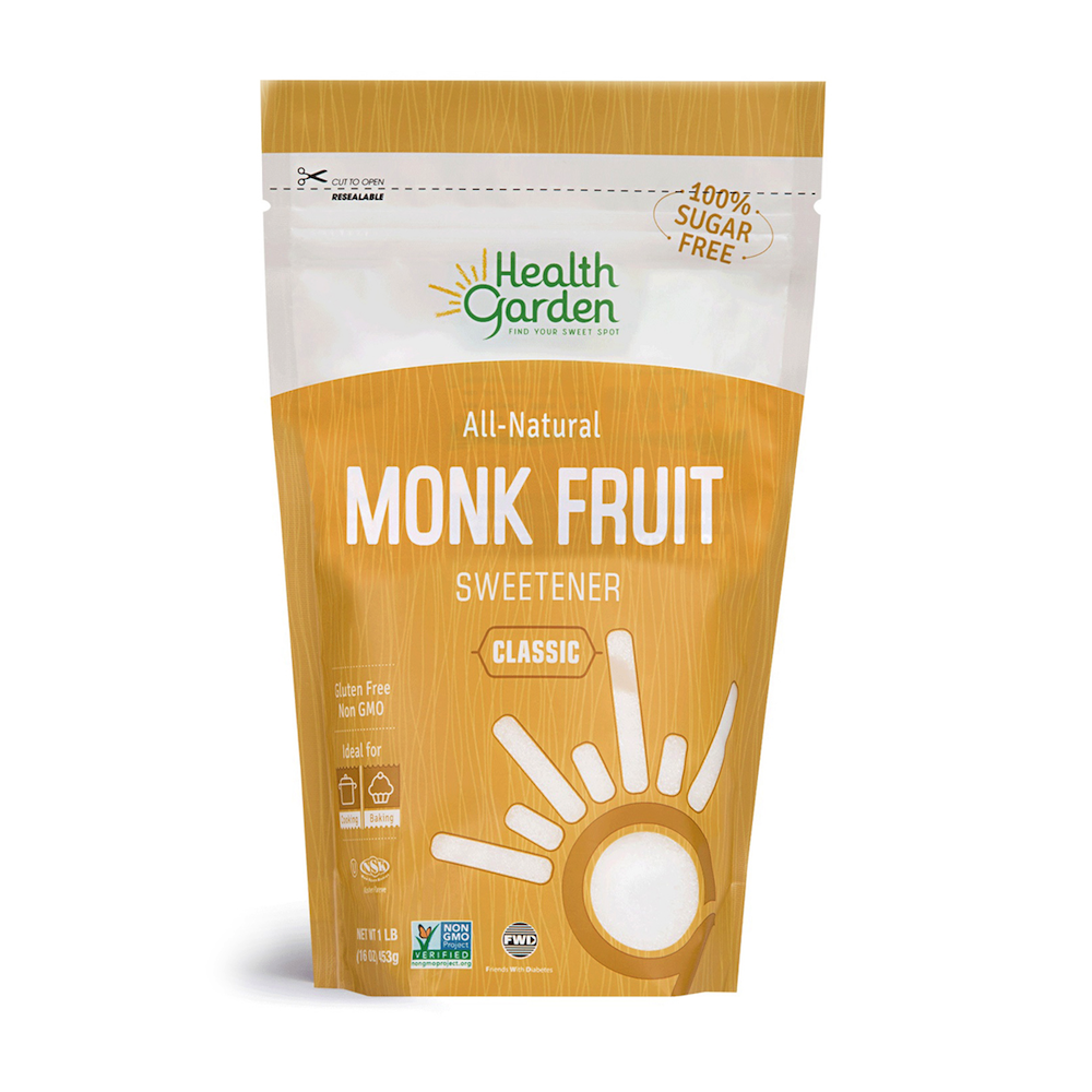 Monk Fruit Classic Sweetener - Health Garden of USA - Keto Certified by the Paleo Foundation