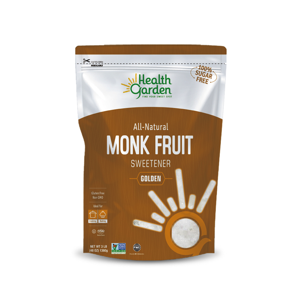 Monk Fruit Golden Sweetener - Health Garden of USA - Keto Certified by the Paleo Foundation