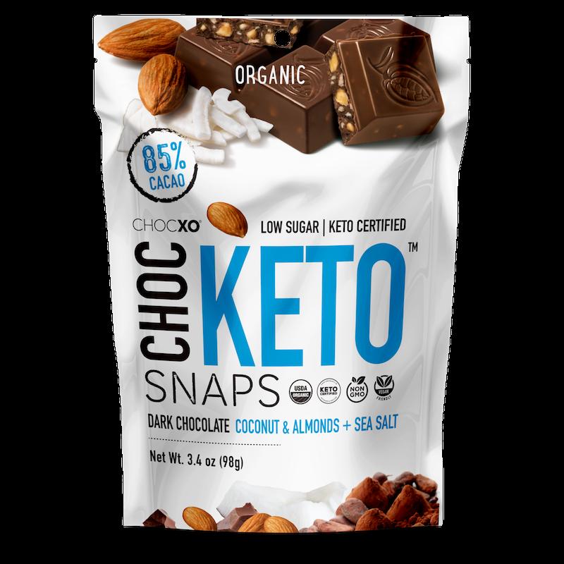 Coconut, Almond & Sea Salt Snaps - ChocXO - Certified Paleo, KETO Certified by the Paleo Foundation