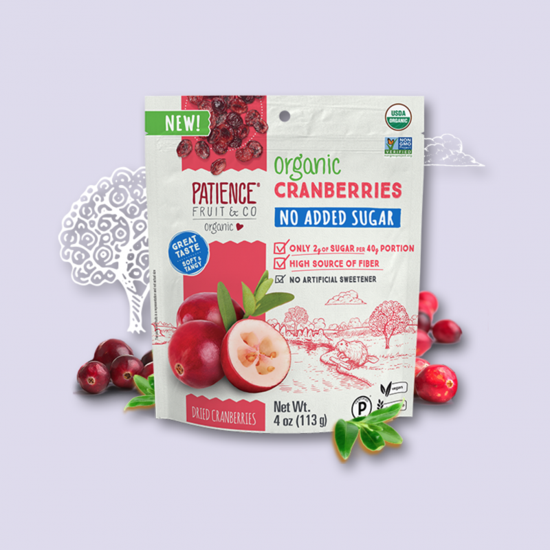 Organic Cranberries No Added Sugar 10 - Patience Fruit & Co - Certified Paleo by the Paleo Foundation