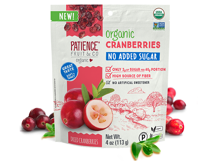 Organic Cranberries No Added Sugar - Patience Fruit & Co - Certified Paleo by the Paleo Foundation