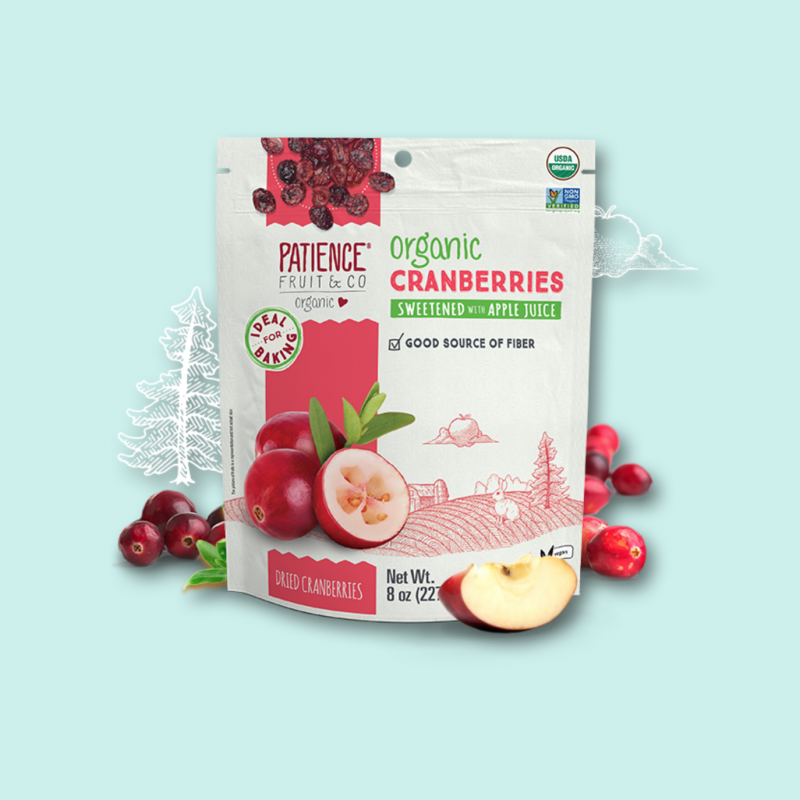 Organic Cranberries Sweetened with Apple Juice 10 - Patience Fruit & Co - Certified Paleo by the Paleo Foundation