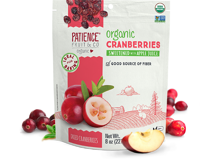 Organic Cranberries Sweetened with Apple Juice - Patience Fruit & Co - Certified Paleo by the Paleo Foundation