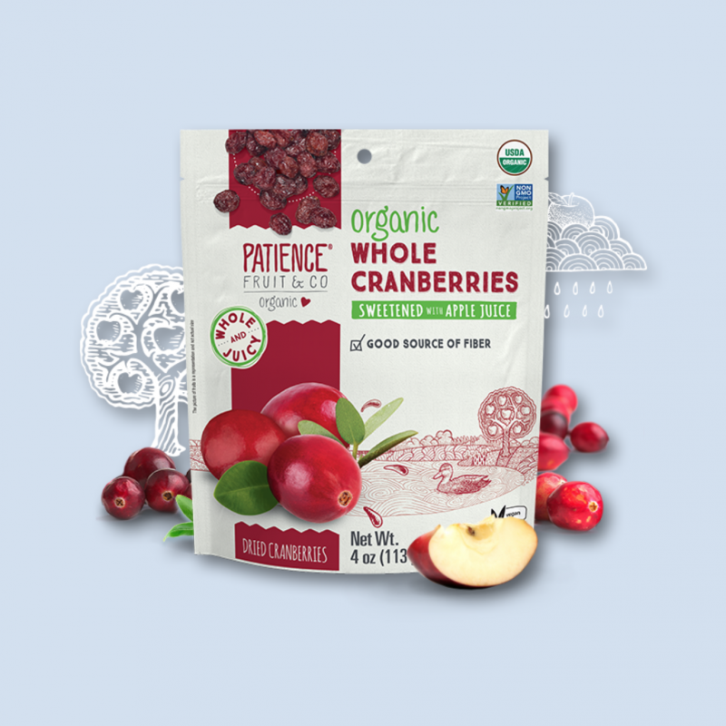 Organic Whole Dried Cranberries 10 - Patience Fruit & Co - Certified Paleo by the Paleo Foundation