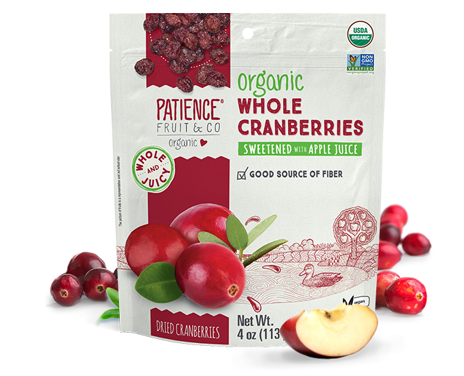 Organic Whole Dried Cranberries - Patience Fruit & Co - Certified Paleo by the Paleo Foundation