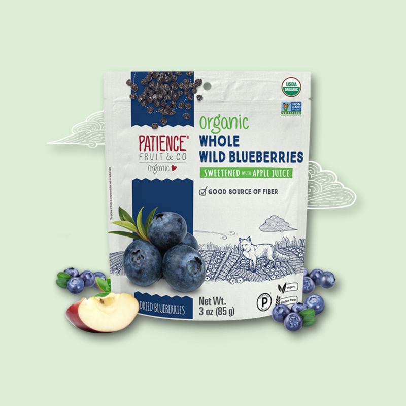 Organic Whole Wild Blueberries 10 - Patience Fruit & Co - Certified Paleo by the Paleo Foundation