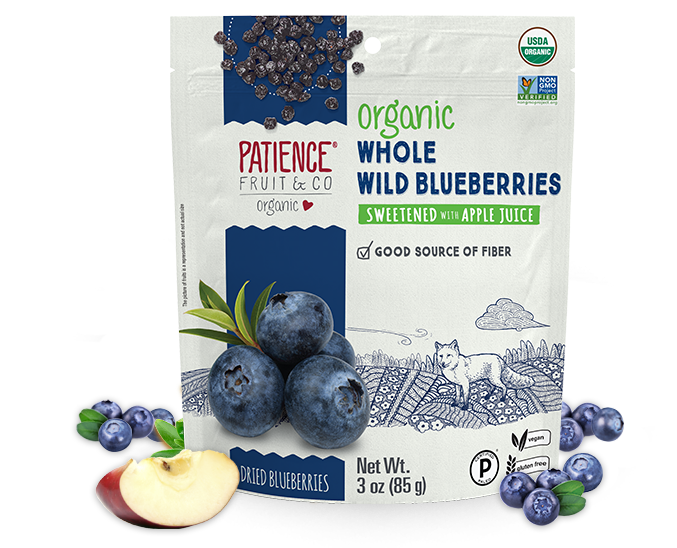 Organic Whole Wild Blueberries - Patience Fruit & Co - Certified Paleo by the Paleo Foundation