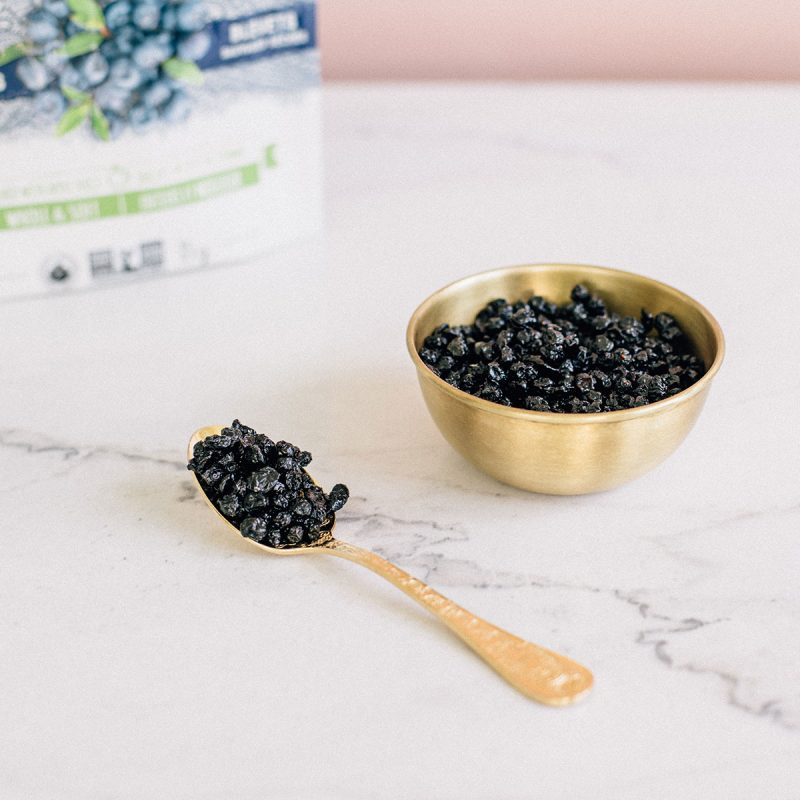 Whole Dried Wild Blueberries - Patience Fruit & Co - Certified Paleo by the Paleo Foundation