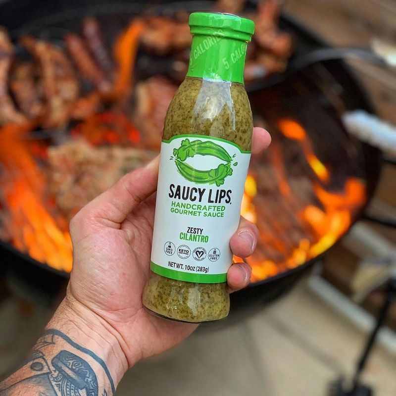 Zesty Cilantro Sauce with BBQ - Saucy Lips - KETO Certified by the Paleo Foundation