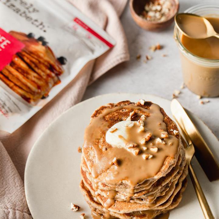 Caramel Pecan Grain Free Pancakes - Purely Elizabeth - Certified Paleo, Keto Certified by the Paleo Foundation